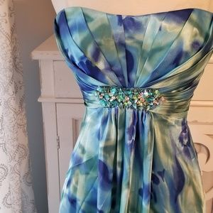 Cache Dresses - Cache Full Length Strapless Gown w/ Embellishments